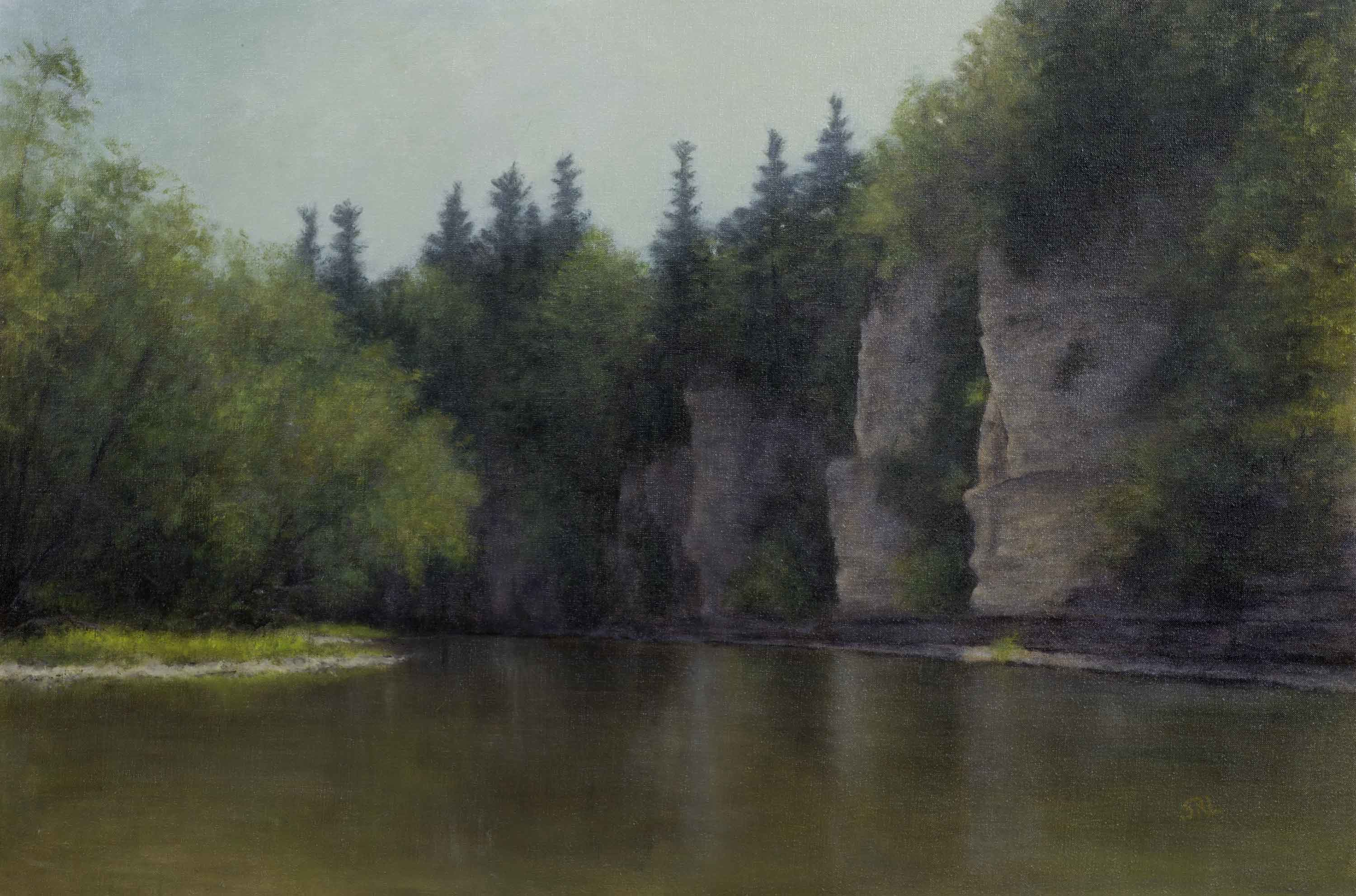 Sara Lubinski, Stone Passage, 2015, oil on linen, 20x30 in., collection of the artist