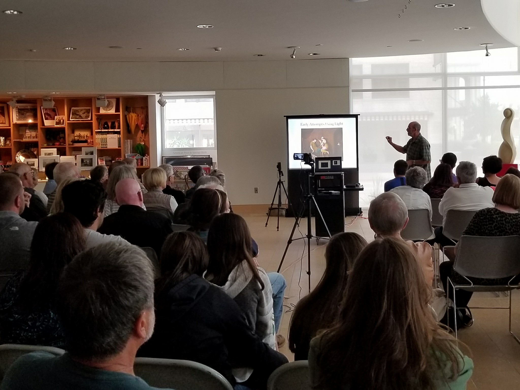 Photographer Mark James presents a lecture about his work.