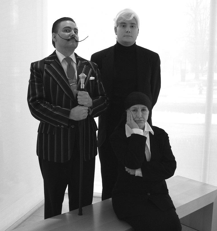 Dali, Warhol, and O'Keeffe