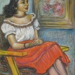 Criss Glasell, Portrait of Bendetta C. Giunta, 1949, pastel on paper, 25 x 19 inches, Collection of the Dubuque Museum of Art. Gift of Bill and Barbara Giunta Baum.