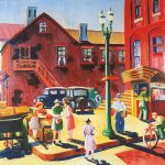 Dorothy Bechtel Rossiter, Handy Andy's, 1940, oil on canvas, 25 x 29 x 1 3/4 inches (framed), Collection of the Dubuque Museum of Art. Purchase of Dubuque Art Association.