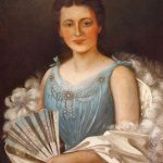 Joseph Walter, Portrait of a Woman in a Blue Dress, 1900, oil on canvas,32 x 24 inches, Collection of the Dubuque Museum of Art.