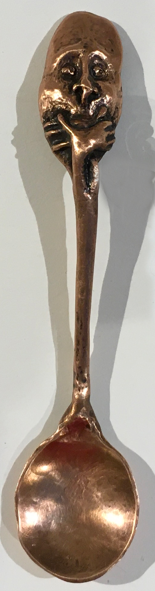 Linda Kelen, Silence, 2018, copper, 5.75 inches, collection of the artist