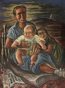 Criss Glasell, Madonna, 1943, egg tempera on paper, 20 x 15 inches, Gift of Edie Norman, 2011.11