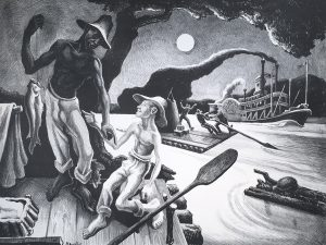 Thomas Hart Benton, Huck Finn, ed. of 100, 1936, lithograph on paper, 17 1/2 x 21 3/4 inches, Gift of Marian Powers-Needles and Belverd E. Needles, Jr., 2019.20