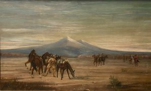J. J. Kavanaugh, Scouting Party, n.d., oil on canvas, 21 1/2 x 35 1/2 inches, Gift of Jill A. Tipton, 2020.15