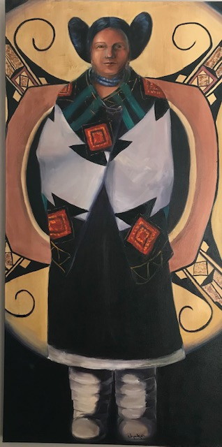 Hopi from the Women of the America Series, ca. 2000-2010, oil on canvas, 48x24 in., collection of the artist