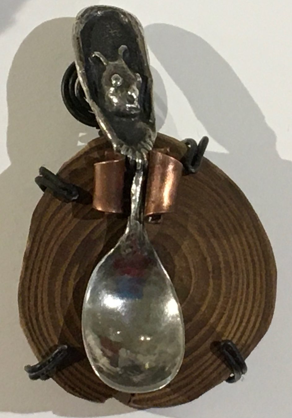 Linda Kelen, Other Twin, 2018, sterling silver, 4 inches, collection of the artist